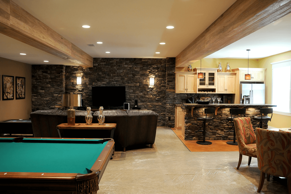 BASEMENT REMODELING- A REAL MAN-CAVE